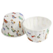 100PCS Lovely Baking Paper Cups Cupcake Carrier Cup Cupcakes Cases, No.6