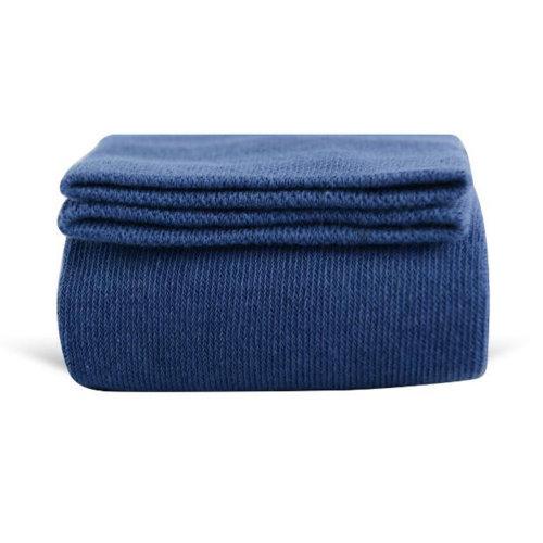 Women Girls Winter Over Knee Leg Warmer Knit Cotton Socks - Blue