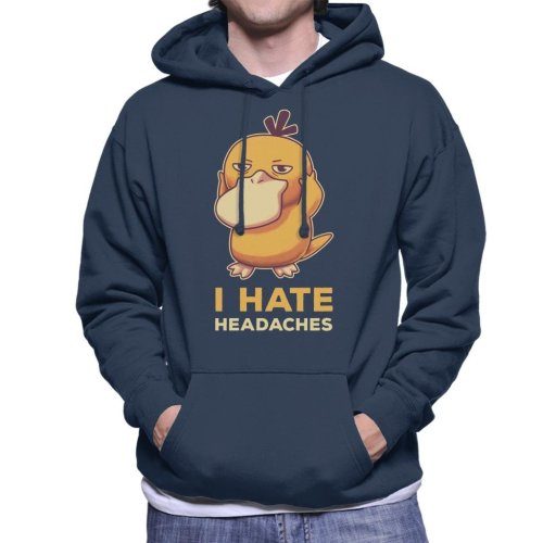 I Hate Headaches Psyduck Pokemon Men's Hooded Sweatshirt