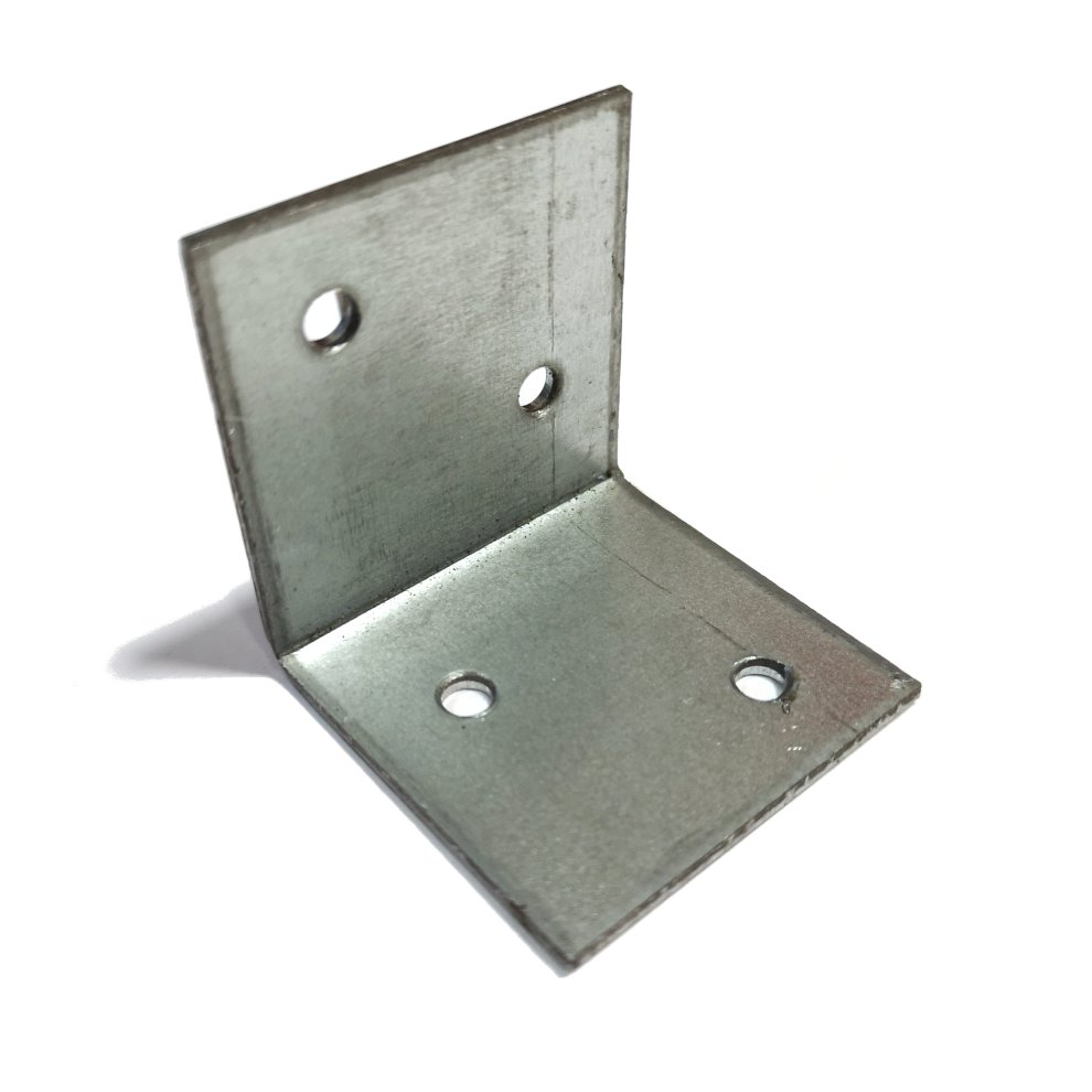 1x Strong Metal Wide Angle Corner Bracket 40x40x40x2mm Silver