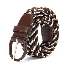 Mens Women Stretch Wild Elastic Belt Casual Alloy Pin Buckle Belt Waistband