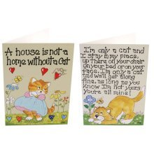 Cat Greetings Cards Fun Novelty Birthday Christmas Gift New Fans Kitten Lovers