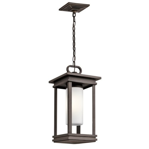 1 Light Small Chain Lantern In Rubbed Bronze
