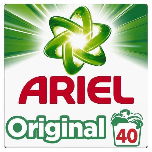 Ariel Original Biological Washing Laundry Detergent Cleaning Powder - 40 Washes