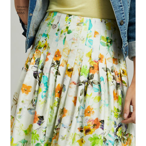 Simplicity Misses' Pleated Skirts-16-18-20-22-24