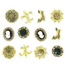 Victorian Miniatures - Novelty Craft Buttons & Embellishments by Dress It Up
