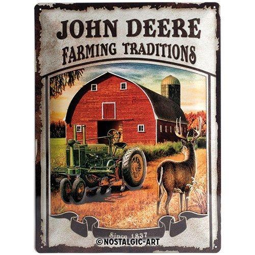Nostalgic Art 23167 Tin Sign John Deere Farming Traditions 30 x 40 cm
