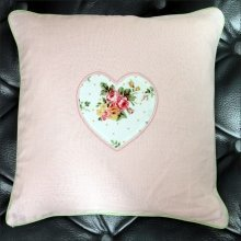 Pink Vintage Heart Cushion