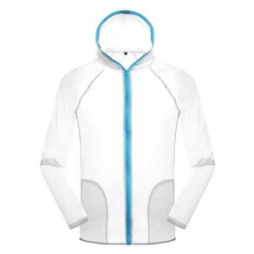 Gilr's Outdoor Lightweight UV Protector Jacket Quick Dry Skin Coat,White