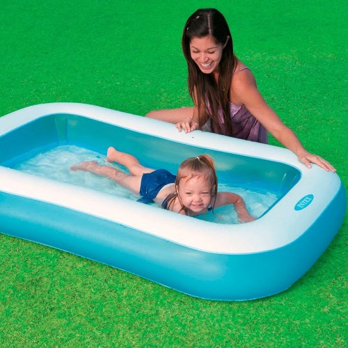 Rectangular Baby Pool with Soft Inflatable Floor