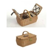 4 Person Fitted Lifestyle Double Lidded Rectangular Picnic Basket