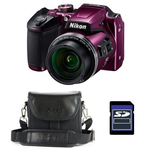 Nikon Coolpix B500 Plum Camera With Bag & 16GB SD Card
