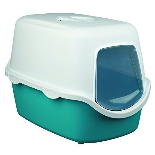 Trixie Vico Litter Tray For Cats Turquoise/white - Turquoisewhite -  vico litter tray trixie turquoisewhite cats