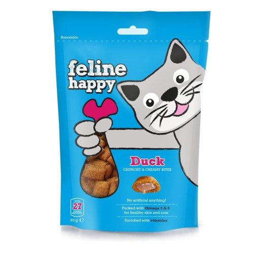 Feline Happy Duck Treats 60g (Pack of 8)