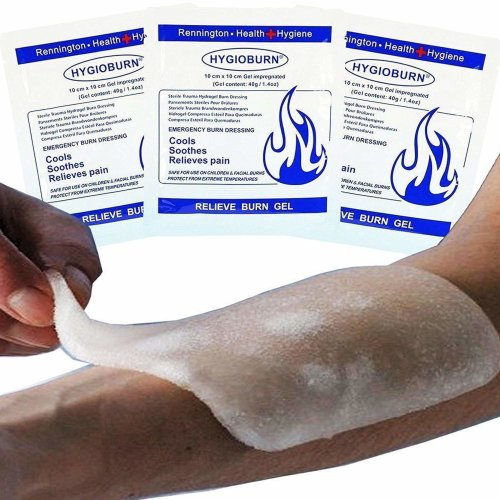 Emergency 10x10cm Burn Dressing - cools, soothes and relieves pain (5)