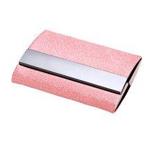 Metal Creative Design Credit Business ID Card Holder Pocket Wallet Pink