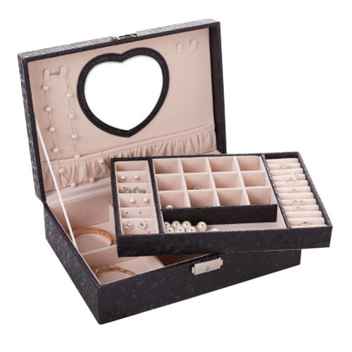 Big Travel Jewelry Box For Ring / Watch / Necklace / Earring -A16