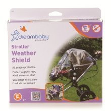 Dreambaby Stroller Weather Shield with Black Trim
