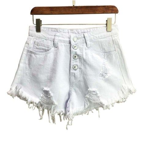 Trendy Shorts Women's Summer High Waist Jeans Shorts Denim Shorts, A