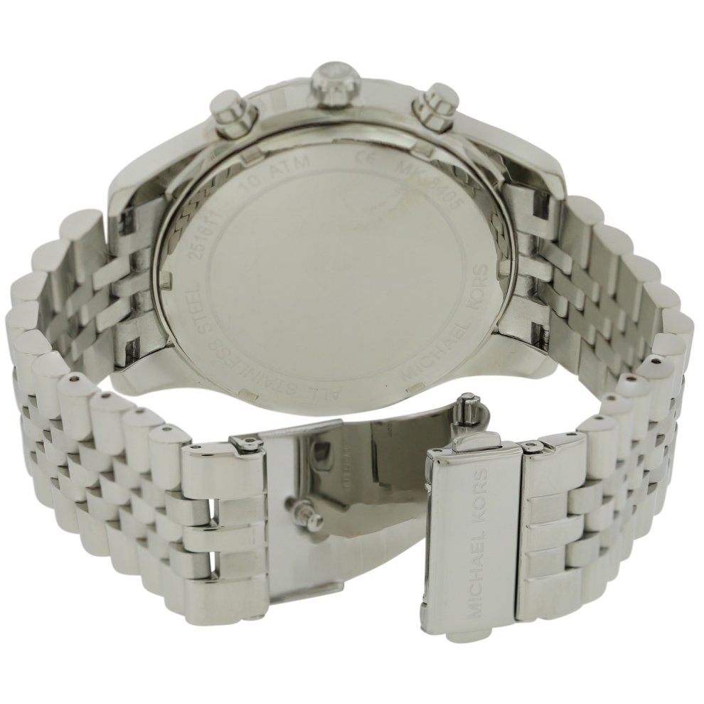 2f77e3fd07ed ... Michael Kors Lexington Chronograph Stainless Steel Mens Watch MK8405 -  1 ...