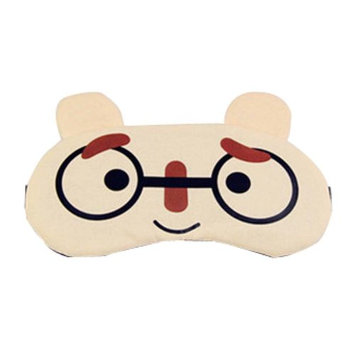 Eyeshade Travel Sleep Goggles Cute Face Eye Cover Cloth Siesta Eye Mask