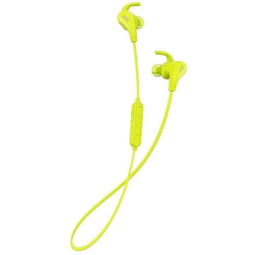 JVC AE Wireless Bluetooth Sports Headphones with Pivot Motion Fit - Yellow