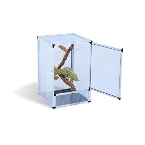 Pawhut Reptile Tank Cage Aluminum Vivarium Waterproof Pet Breeder