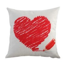 Valentine's Day Lovers Pillow Throw Cushion Cover Sofa Home Car Party Decor HQ01
