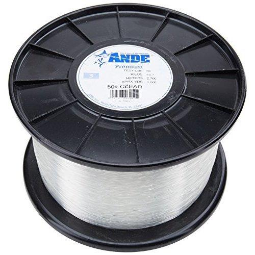 Ande A14-8C Premium Monofilament, 1/4-Pound Spool, 8-Pound Test, Clear Finish