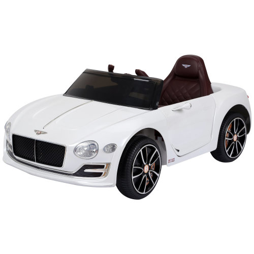 HOMCOM Bentley Licensed 12V Kids Children Electric Ride-on Car Twin Motors with LED Lights Music Parental Remote Control White