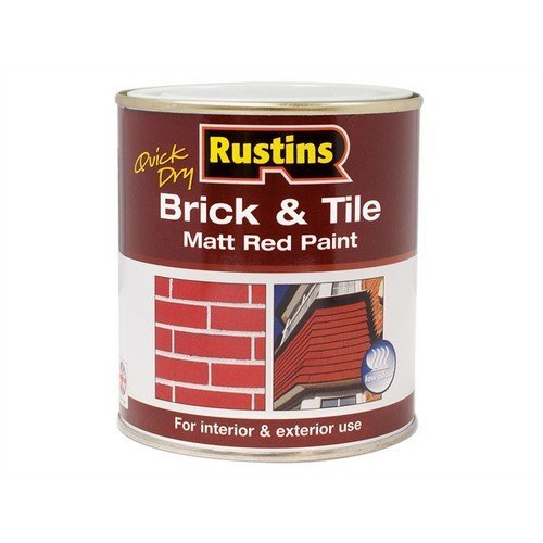 Rustins BRITW250 Quick Dry Brick & Tile Paint Matt Red 250ml