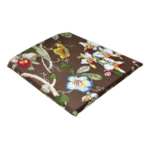 [Tree&Flower] Brown Comfortable Chair Pad 40*40CM Square Chair Cushion