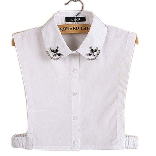 Simple Stylish Detachable Collar Fake Shirt Collar All-purpose Accessory for Women, E