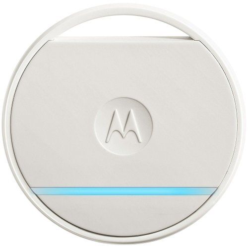 White Motorola Connect Coin | Smart Key & Phone Finding Tag