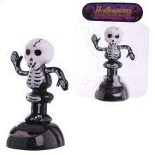 Solar Powered Black Skeleton Pal Nodding Dancing Novelty Home Car Window Dashboard Ornament Fun Halloween