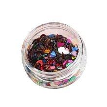 5 Boxes Makeup Glitter Sequins Shining Nail Art Sequins Face Glitter, Heart