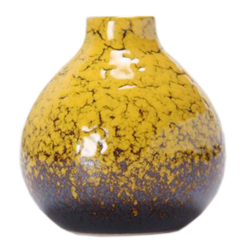 Cute Chinese Vase Decor Vase Mini Vase Small Vase For Home/Office,Yellow