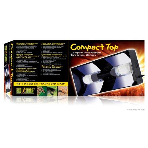 Exo Terra Compact Fluorescent Canopy Double 45cm