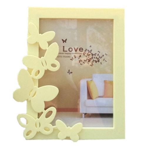 Lovely Butterfly Baby&Kids Picture Frame Photo Frames Plastic Frames,Yellow