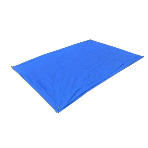 6 Hole Awning Outdoor Camping Oxford Cloth Mat 1.5 * 2.1 m Blue