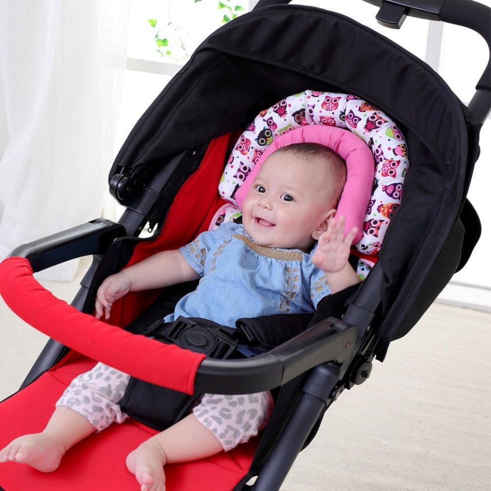 Baby Head Support Kakiblin Newborn Pushchair Car Seat Insert Soft Head Hugger Pillow Cushion For Stroller Pink