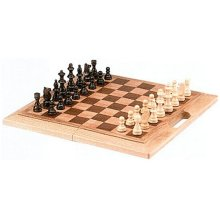 CHH Imports 16 Inch Oak Folding Chess Set