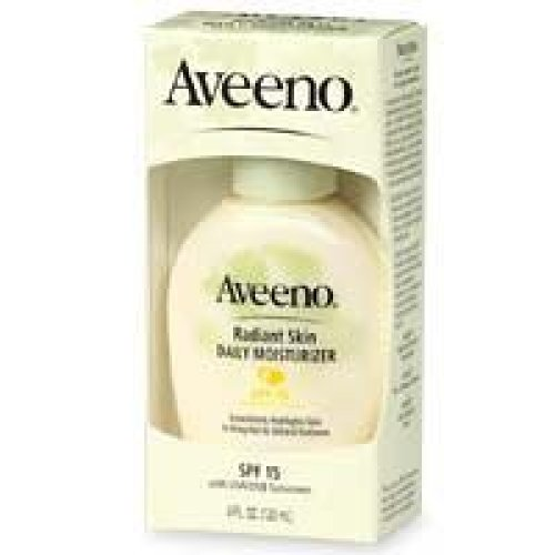 Aveeno Positively Radiant Skin Daily Moisturizer, SPF-15, 4-Ounce Bottles (Pack of 2)