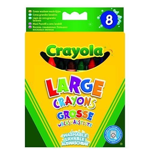 Crayola Kids 8 Count Large Washable Crayons