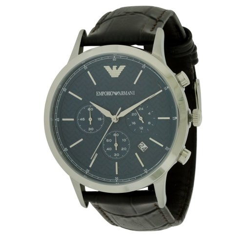 Emporio Armani Leather Chronograph Mens Watch AR2494