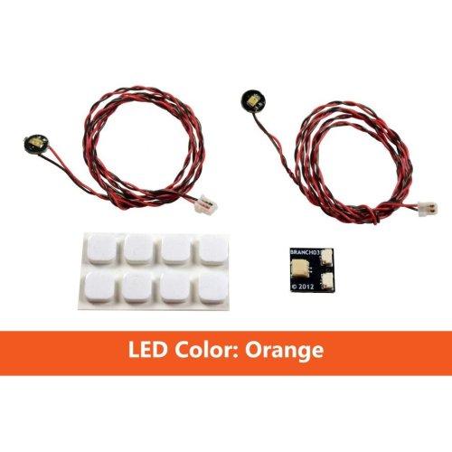 Brickstuff Orange Pico LED Light Board 2-Pack - LEAF01-POR-2PK