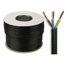 Black 3183Y 3 Core 0.75mm 6 Amp PVC Flexible Cable Cut To Length Flex (100 Meters)