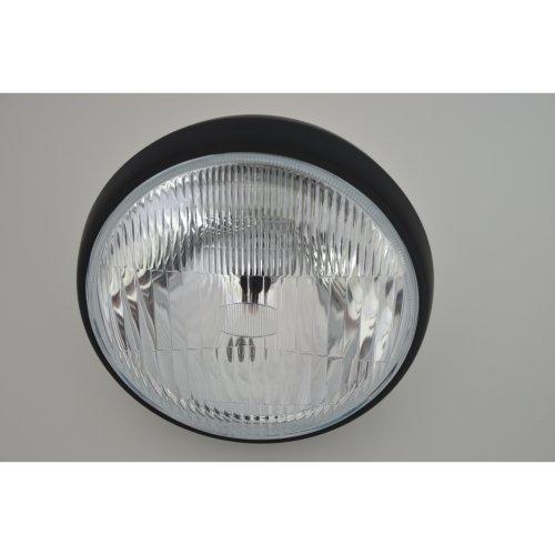 "7.5"" Matte Black Steel 12v Motorcycle Motorbike Headlight"