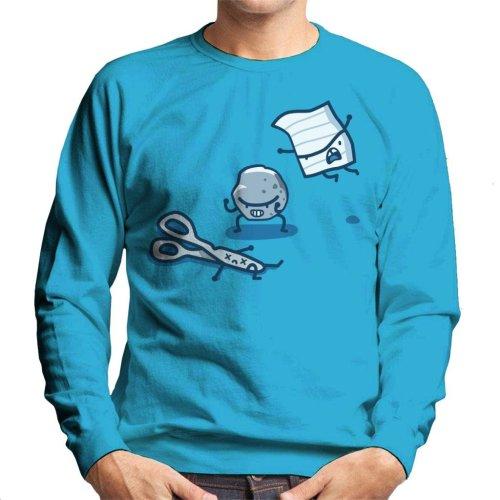 Paper Rock Scissor Fight Men's Sweatshirt