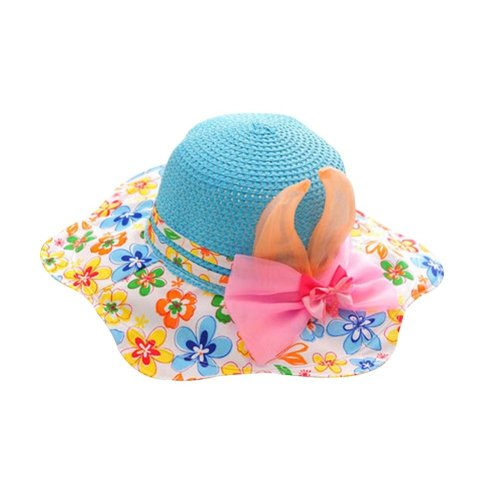 Sun-resistant Comfortable Ventilate Beach Cap/Kid Cap,Blue